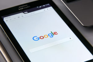 Samsung tablet open to Google search query - google addiction treatment