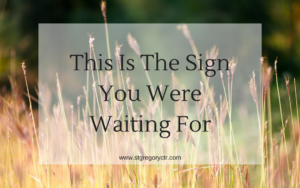 words: this is the sign you were waiting for - seeking God in addiction recovery