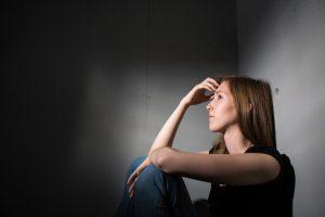 stressed and sad woman