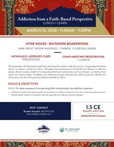 Faith-Based Addiction March 25, 2020 - Tampa, FL