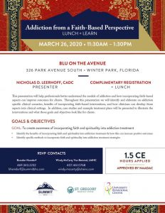 Faith-Based Addiction March 26, 2020 - Orlando, FL