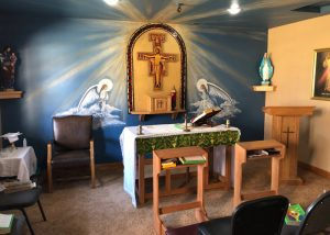 gorgeous Catholic chapel at St. Gregory Recovery Center - Bayard, Iowa addiction treatment