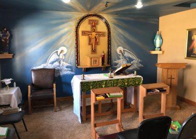 gorgeous Catholic chapel at St. Gregory Recovery Center - Bayard, Iowa addiction treatment