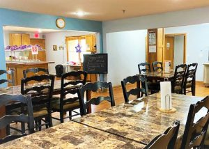 bright kitchen and dining area at St. Gregory Recovery Center - Iowa drug and alcohol rehab
